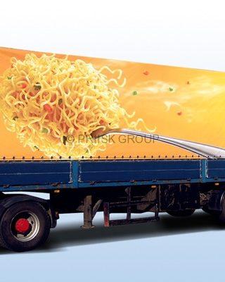 Реклама на прицепе ПВХ тент -6