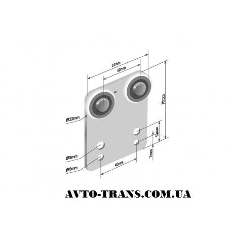 Ролик боковой шторы -rktp-7022